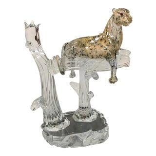 Pino Signoretto Murano Leopard Sculpture