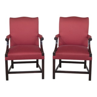Kittinger Chippendale Open Armchairs - A Pair