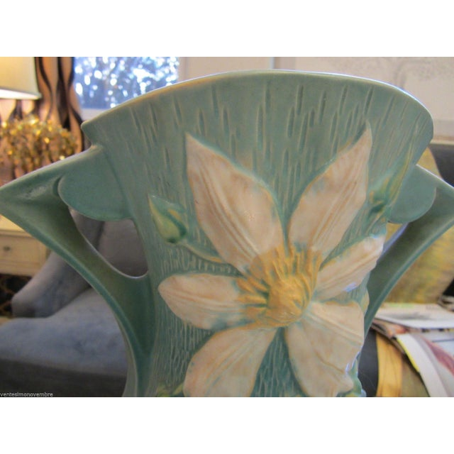 "Extra Large Roseville USA ""Clematis"" Vase - Image 5 of 9"
