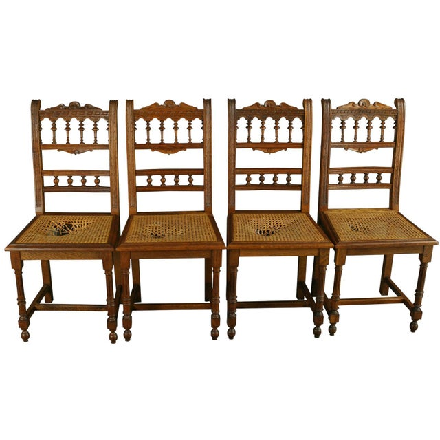Antique French Renaissance Henry II Oak Chairs - 8 - Image 2 of 8