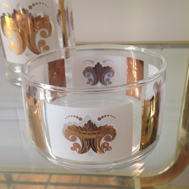 Vintage Fleur De Lis Jar and Bowl Set - Image 4 of 4