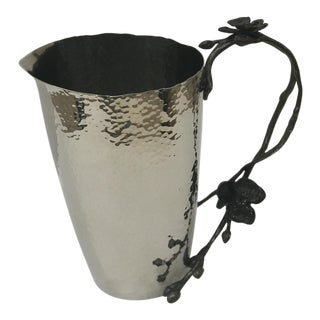 Michael Aram Hammered Nickel Black Orchid Pitcher