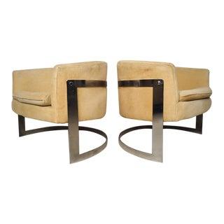 Jules Heumann Round Back Club Chairs