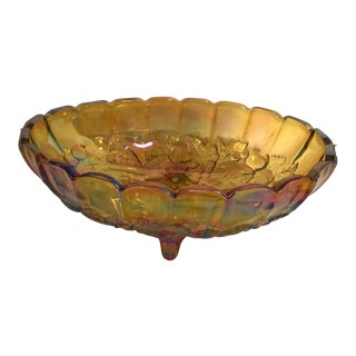 Carnival Glass Serving Bowl