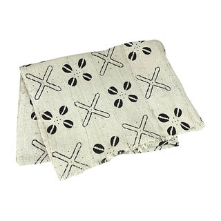African Black & White Mud Cloth Throw