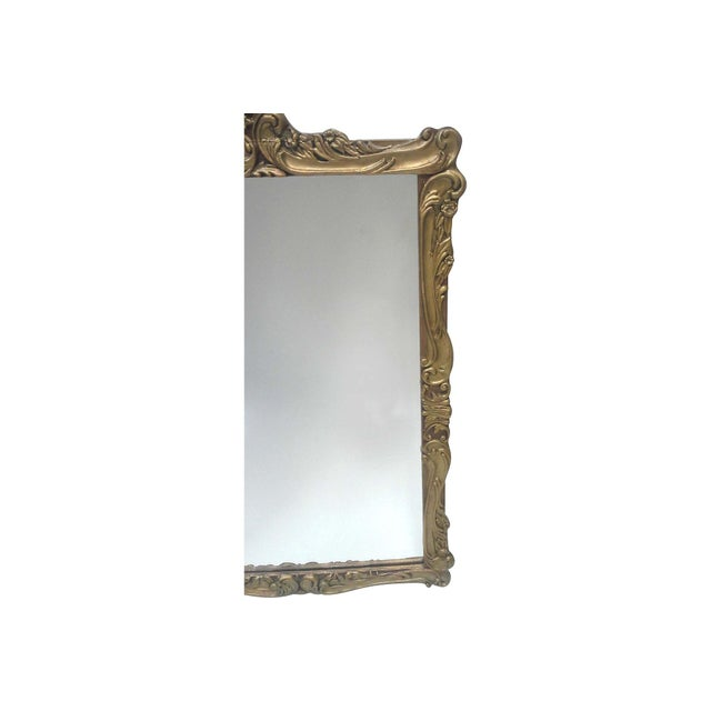 Gilt Art Nouveau Wall Mirror - Image 4 of 7