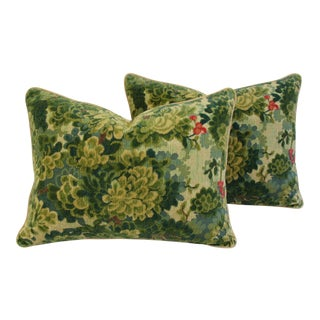 Italian Scalamandre Tapestry Velvet Marly Pillows- A Pair