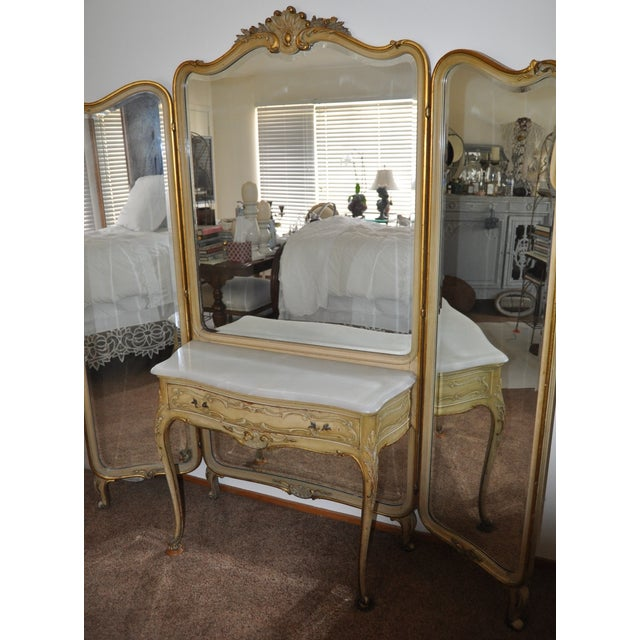 Vintage 1920s French Louis XV Style Vanity - Image 6 of 11