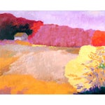 """Image of """"Distant Barn"""" Original Oil Painting"""