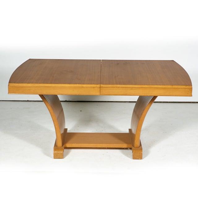 Image of Art Deco Light Mahogany Dining Table