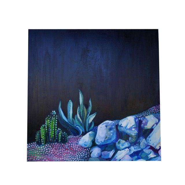 """Night Scene"" Painting by Katherine Dunlap - Image 1 of 2"
