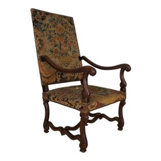 "Louis XIII ""Os De Mouton"" Walnut Armchair"
