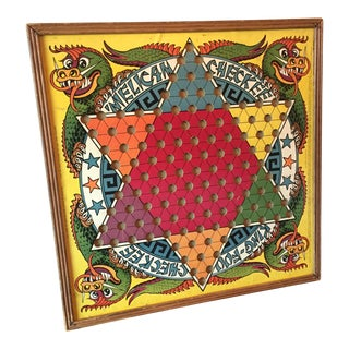 Vintage Chinese Checkers Board
