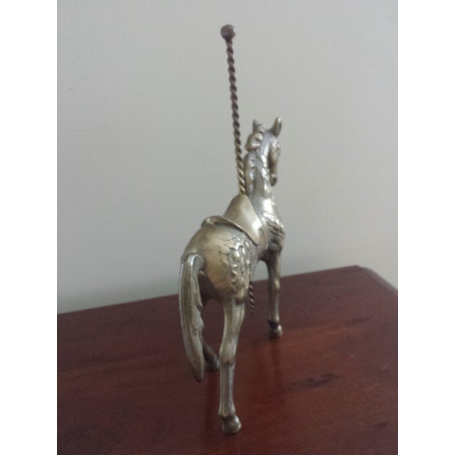 Brass Carousel Horse - Image 6 of 8