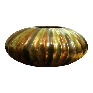 Modern Tri-Colored Brass Vase