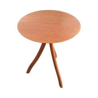 Danish Teak Tripod Side Table by Fbj Møbler