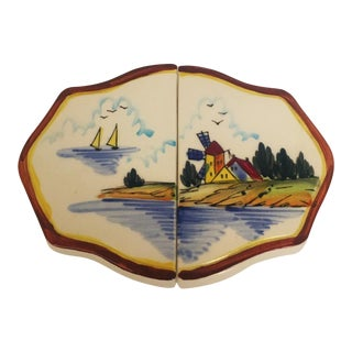 Hand Painted Porcelain Trivet