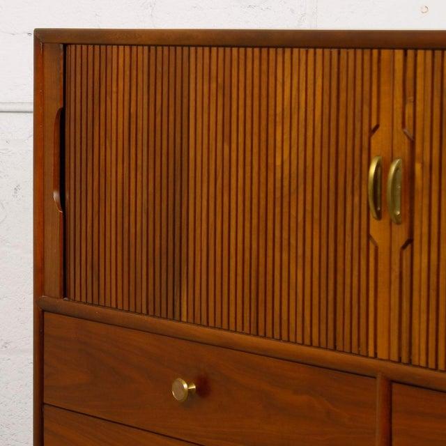 Drexel Walnut Tambour Door Chest - Image 7 of 10