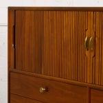Image of Drexel Walnut Tambour Door Chest