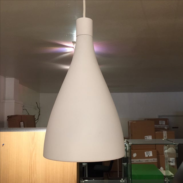 Image of White & Gold Pendant Light Fixture