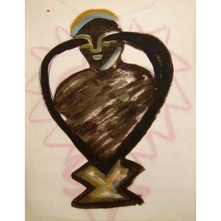 Michael di Cosola Oil on Paper Abstracted Figure