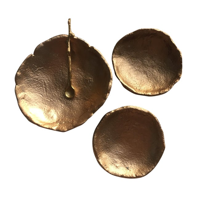 3-Piece Gold Nesting Bowls with Spoon - Image 1 of 5