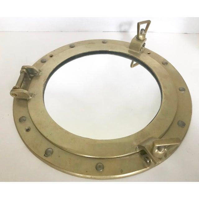 Brass Nautical Porthole Mirror - Image 4 of 4