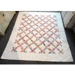 Image of Signed and Dated 1941 Postage Stamp Double Irish Chain Quilt
