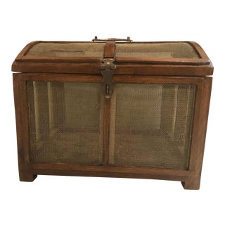 Antique Wood Cricket Box