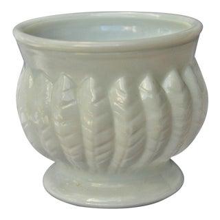 Vintage Leaf Design Randall Milk Glass Vase