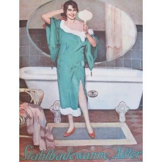 Original 1927 Lithographic Bather Poster