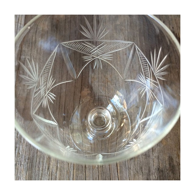 1940s Etched Wine Glasses/Goblets - Set of 8 - Image 6 of 6