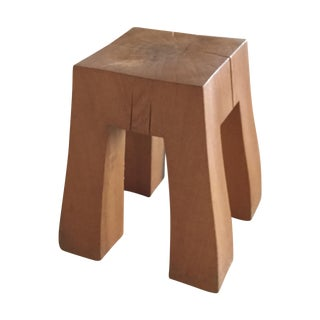 Lars Zech Hand Carved Oak Black Forest Stool