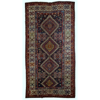 Antique Caucasian Shirvan Rug- 4′9″ × 7′10″