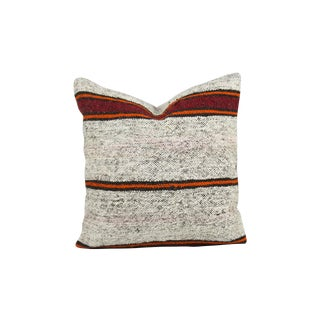 Textural Striped Over-Stuffed Kilim Pillow