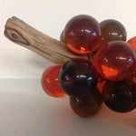 Image of Vintage Mid-Century Orange Lucite Grapes