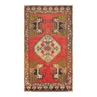 "Pasargad Vintage Sivas Wool Area Rug - 1' 9"" X 3' 1"""