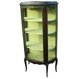 Late 19th Century Louis XV Glass Display Cabinet