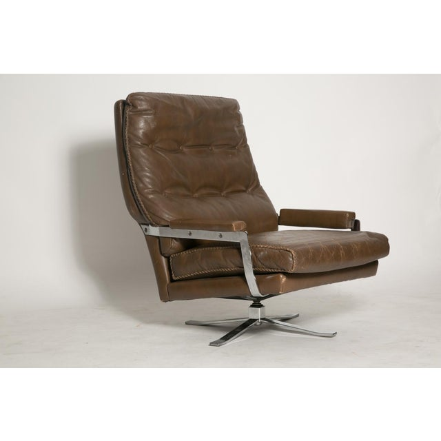 Image of Arne Norell Leather Club Chairs - Set of 2