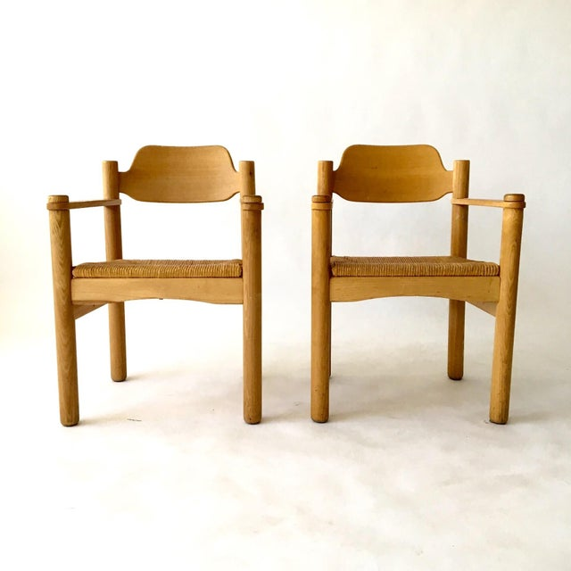 Italian Rush Seat Armchairs - Pair - Image 2 of 6