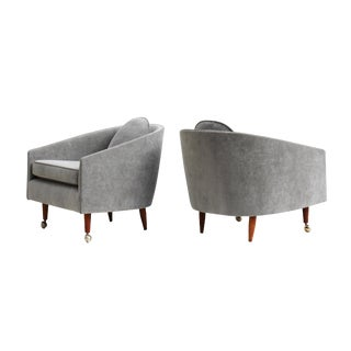 Mid-Century Scoop Armchairs - A Pair