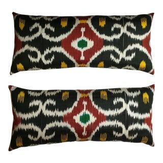 Silk Ikat Pillows - A Pair