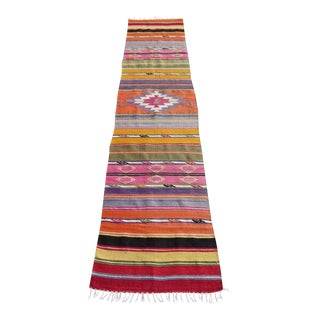 Vintage Turkish Antalya Kilim Runner - 1′11″ × 8′9″