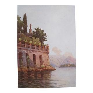 1905 Ella du Cane Print, A Terrace Wall, Lago Maggiore