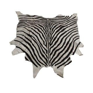 Vintage Zebra Hide Rug - 7' x 8'