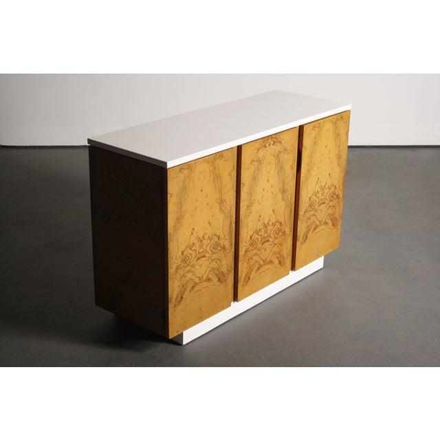 Milo Baughman Burl Wood 2-Tone Credenza Buffet - Image 11 of 11