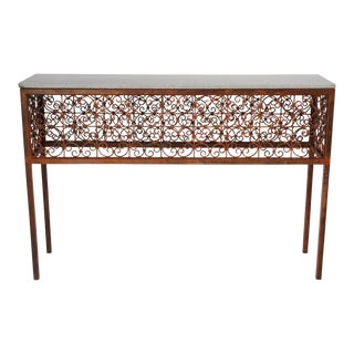 Iron Rust Finished Console Table