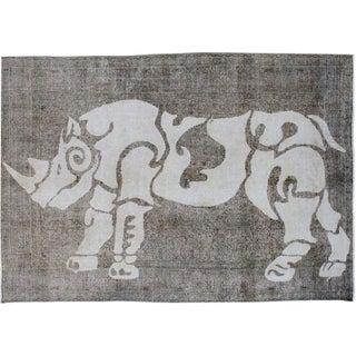 Rhino Decorated Area Rug - 8' X 11'