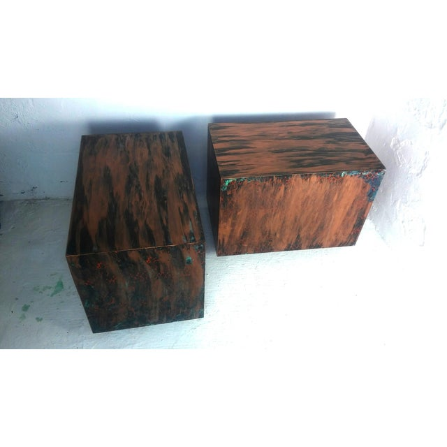 Milo Baughman Style Mid-Century End Tables - a Pair - Image 2 of 9