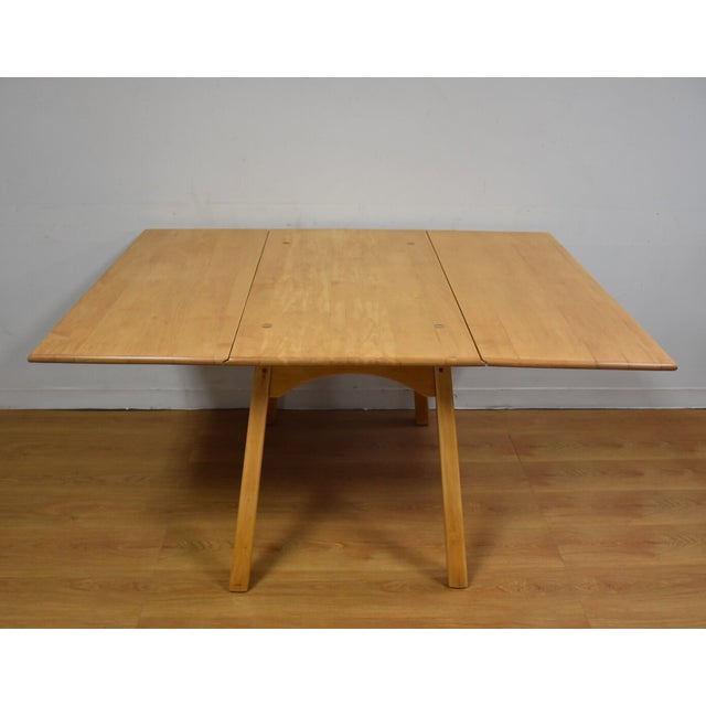 Mid-Century Maple Drop Leaf Dining Table - Image 2 of 11